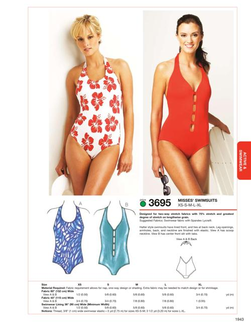 Kwik Sew Swimsuits 3695