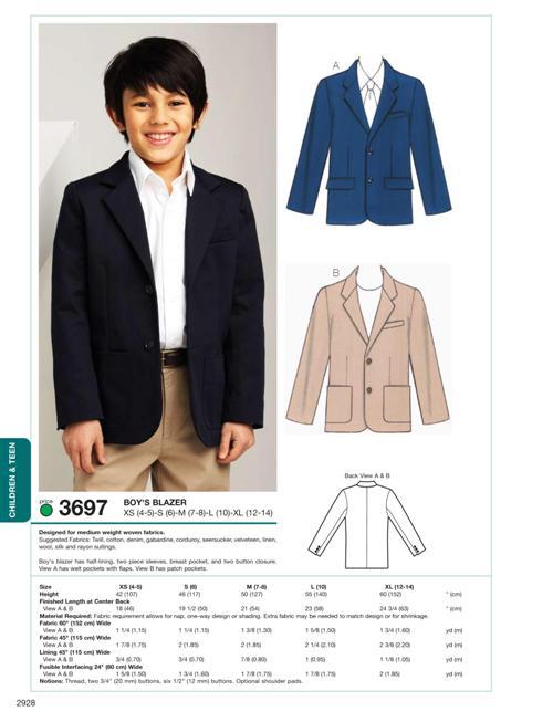 Kwik Sew Blazer 3697