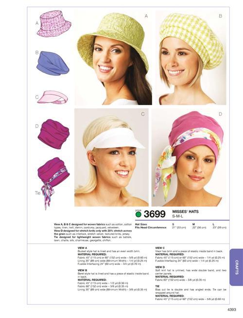 Kwik Sew Hats 3699