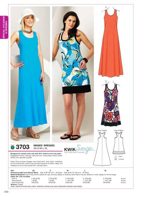 Kwik Sew Dresses 3703