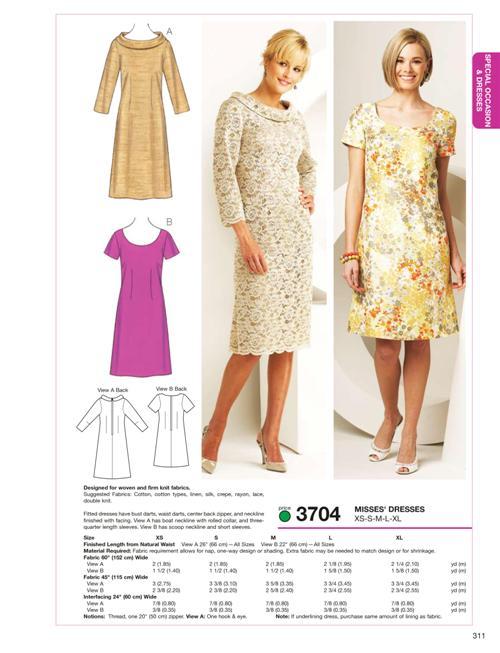 Kwik Sew Dresses 3704