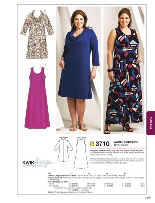 Kwik Sew Dresses 3710