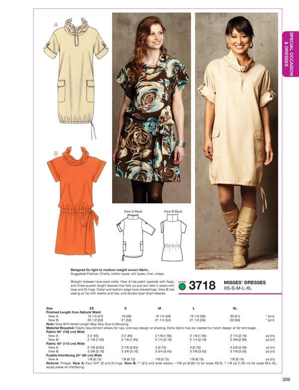 Kwik Sew Dresses 3718