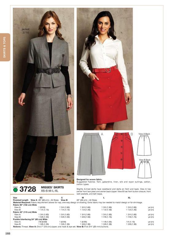 Kwik Sew Skirts 3728