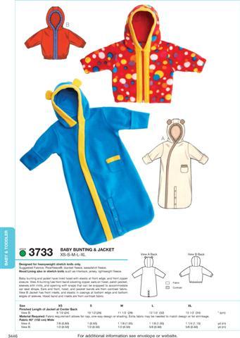 Kwik Sew Bunting & Jacket 3733