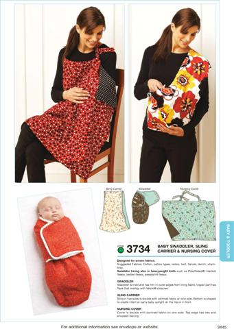 Kwik Sew Swaddler, Sling Carrier & Nursing Cover 3734