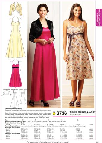 Kwik Sew Dresses & Jacket 3736
