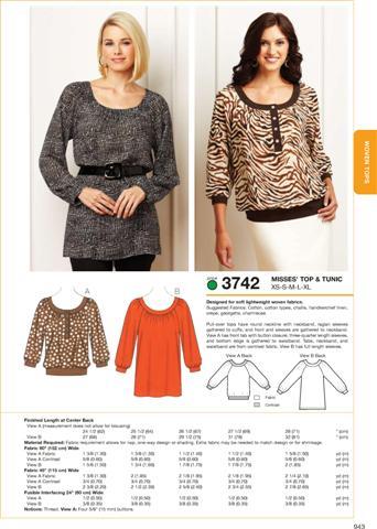 Kwik Sew Top & Tunic 3742