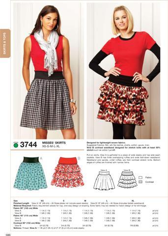 Kwik Sew Skirts 3744