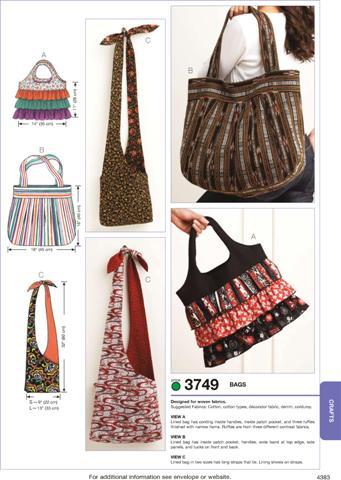 Kwik Sew Bags 3749
