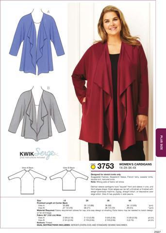 Kwik Sew Cardigans 3753