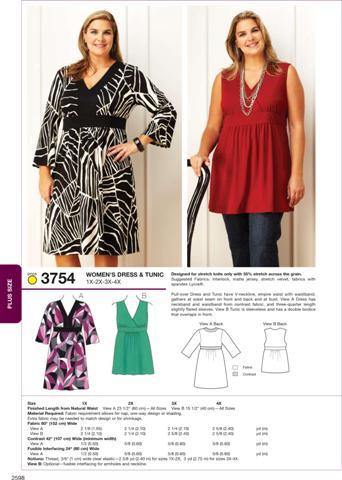 Kwik Sew Dress & Tunic 3754
