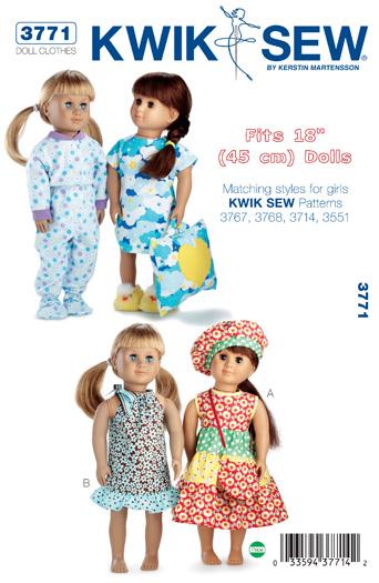 Kwik Sew Doll Clothes 3771
