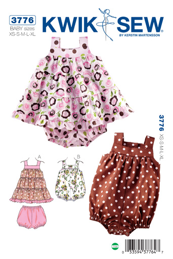 Kwik Sew Dress, Bloomers & Romper 3776