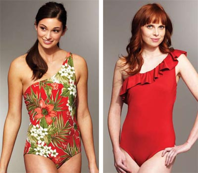 Kwik Sew One Shoulder Swimsuits 3780