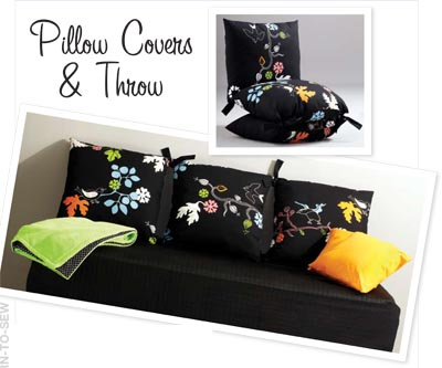 Kwik Sew Pillow Covers & Throw 3788