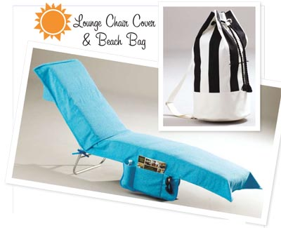 Kwik Sew Lounge Chair Cover & Beach Bag 3798