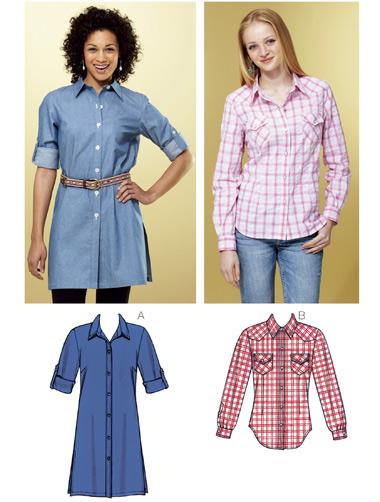 Kwik Sew Shirts 3799