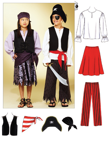 Kwik Sew Pirate Costumes 3804