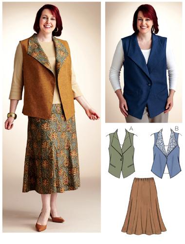 Kwik Sew Vest & Skirt 3824