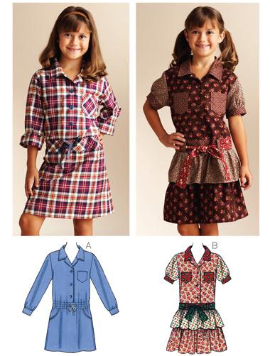 Kwik Sew Dropped Waist Shirt Dresses 3832