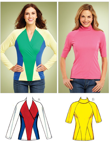 Kwik Sew Misses Shaped Tops 3843