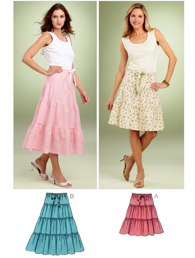 Kwik Sew Misses Tiered Skirts 3851