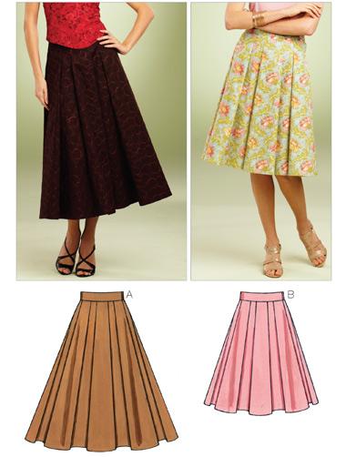 Kwik Sew Misses Full Skirts 3852