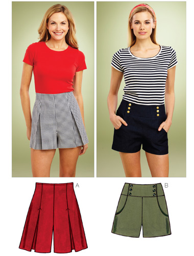 Kwik Sew Misses Shorts 3854