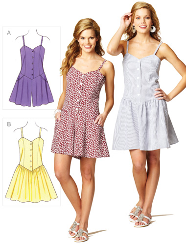 Kwik Sew Misses' Romper and Dress 3874