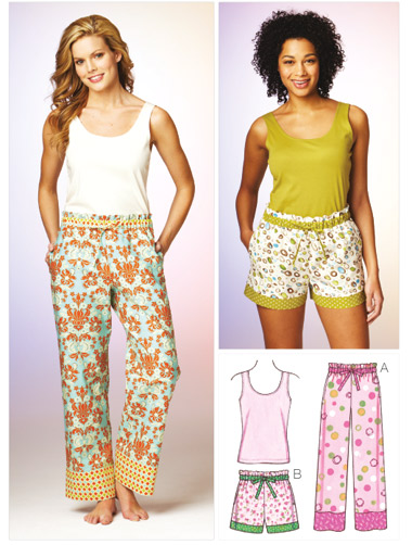 Kwik Sew Misses' Sleep Pants, Shorts and Top 3882