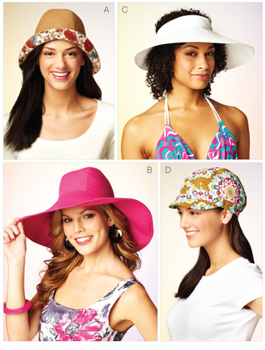 Kwik Sew Misses' Hats 3885