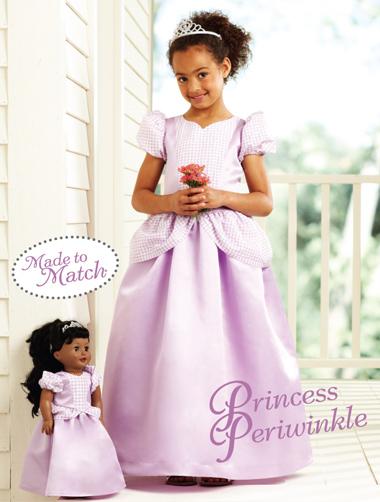Kwik Sew Princess Periwinkle Girls' & Doll Dresses 3903