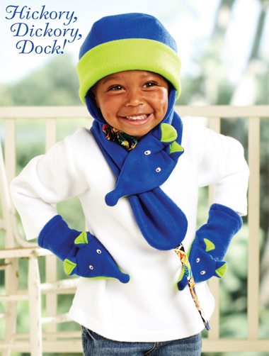 Kwik Sew Hickory, Dickory, Dock! Children's Hat ,Scarf and Mittens 3904