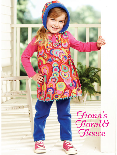 Kwik Sew Fiona's Floral & Fleece Childrens Dress, Hat and Pants 3908