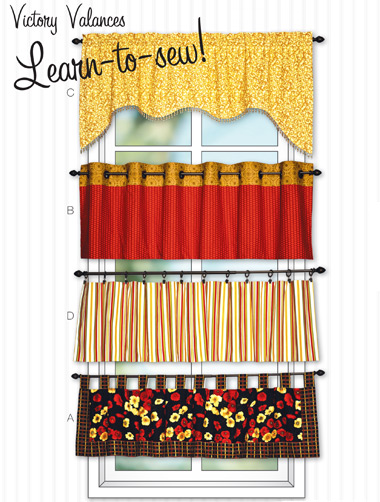 Kwik Sew Victory Valences in 4 styles 3911