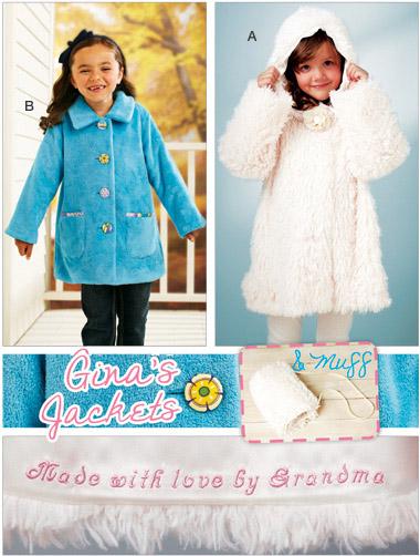 Kwik Sew Girls Jacket and Muff  3919