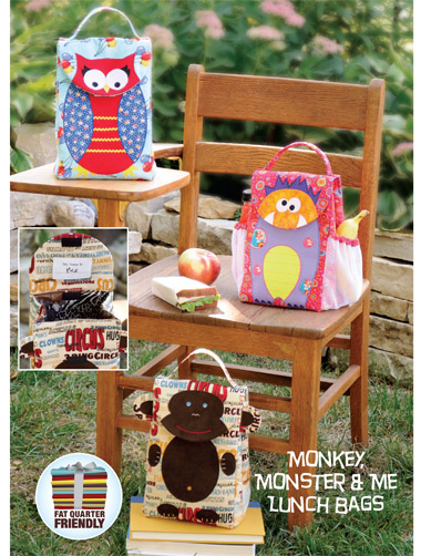 Kwik Sew Monkey, Monster & Me Lunch Bags   3925