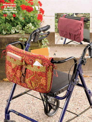 Kwik Sew Wheelchair & Walker Carryall & Carrier Bag