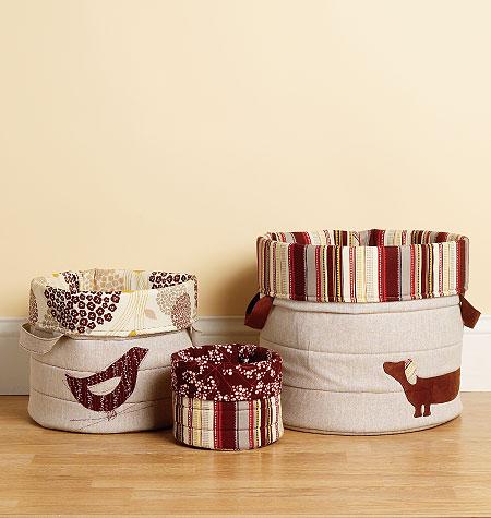 Kwik Sew Nora's Nesting Baskets 3938