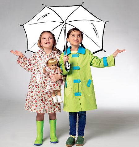 Kwik Sew Children's & Doll Raincoats 3941