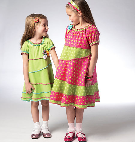 Kwik Sew Girls' Dresses 3944