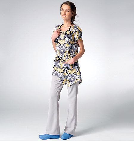 Kwik Sew Misses Scrub Top and Pants 3979
