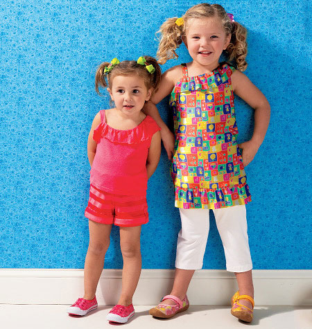 Kwik Sew Girls' Top, Shorts and Pants 3984