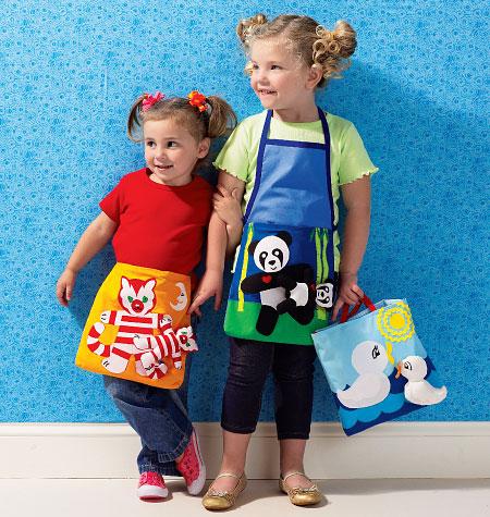Kwik Sew Girls' Apron/Tote and Toy 3992