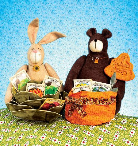 Kwik Sew Bear and Bunny Baskets 4007