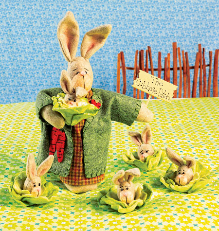 Kwik Sew Mama Bunny and Baby Bunny Cabbages 4008