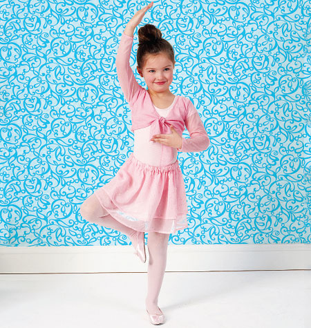 Kwik Sew Girls' Shrug, Leotard and Skirt 4011