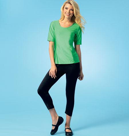 Kwik Sew Misses' Tops, Shorts and Pants 4044
