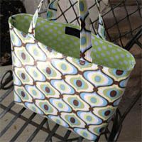Lazy Girl Designs Slicker Tote Paper Pattern